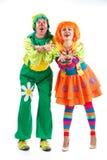 Merry clowns Stock Image