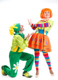 Merry clowns Royalty Free Stock Photo