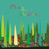 Merry Colorful Christmas Stock Images