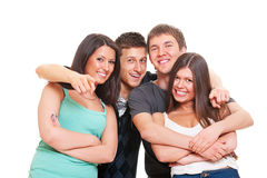 Merry company of young people Stock Photo