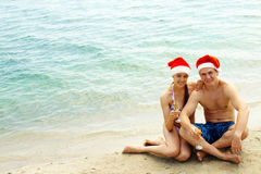 Merry couple Stock Images