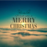 Merry Crhistmas Typography over a delicate nature backgroun Royalty Free Stock Image