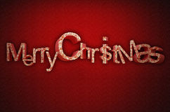 Merry cristmas. 3d  inscription merry cristmas on the red Royalty Free Stock Photography