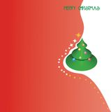Merry Cristmas. New Year, Holiday, postcard,postcards Royalty Free Illustration