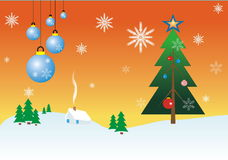 Merry Cristmas. An illustration snowing christmas background and You can use it for your poster and design Royalty Free Stock Photos