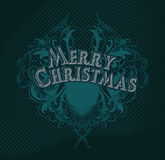 Merry cristmas black stock illustration