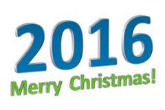 Merry Cristmas 2016 concept Stock Photography
