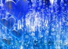 Merry cristmas ice. Christmas text with ice effect Stock Images