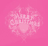 Merry Cristmas pink royalty free illustration