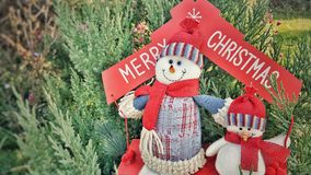Merry Cristmas snowmen holiday concept Royalty Free Stock Image
