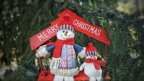 Merry Cristmas snowmen holiday concept Stock Photography