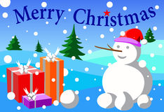 Merry cristmas. Wallpaper  snow gift and merry cristmas Stock Photography