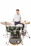 Merry drummer Stock Photo
