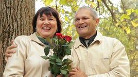 Merry Elderly Couple stock video