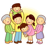 Merry family of happy time. Home and Family Character Design Ser Royalty Free Stock Photo