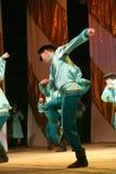 Merry festive Russian folk dances. choreography in the style of the folk holiday Maslenitsa. Stock Photo