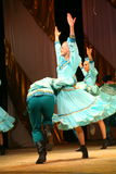 Merry festive Russian folk dances. choreography in the style of the folk holiday Maslenitsa. Royalty Free Stock Images