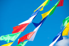 Merry flags Royalty Free Stock Photography
