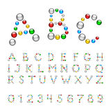 Merry Font Bead Royalty Free Stock Photography