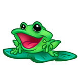 Merry Frog cartoon illustration Stock Images