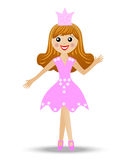 Merry girl in suit princess Royalty Free Stock Photo
