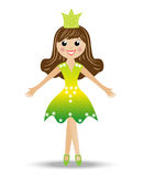 Merry girl in suit princess Royalty Free Stock Image
