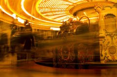 Merry-Go-Round. An old traditional carousel in motion Royalty Free Stock Photos