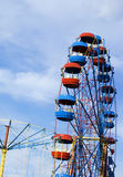 Merry-go-round. Colorful merry-go-rounds in a summer park Royalty Free Stock Photo