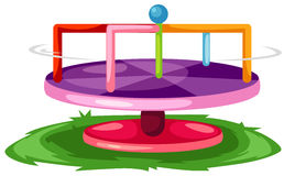 Merry-Go-Round. Illustration of isolated merry-go-round on white background Royalty Free Stock Photos