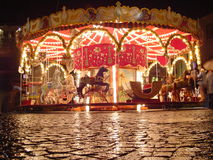 Merry-go-round. By night Stock Photography