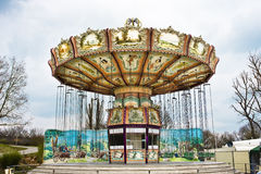 Merry-go-round. Carousel in an amusement park in nuremberg, germany Stock Photos