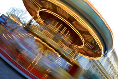Merry-go-round. A colored merry-go-round taken with long exposure Royalty Free Stock Images