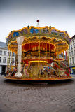 Merry-go-round. A colourful merry-go-round with bright lights Royalty Free Stock Photos