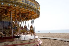 Merry-go-round. At Brighton beach Stock Photos