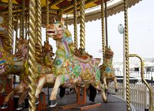 Merry-go-round. At Brighton beach Stock Photography