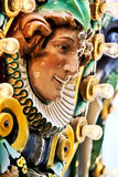 Merry go Round. Close up image of a face on a merry go round with light bulbs surrounding Royalty Free Stock Photo