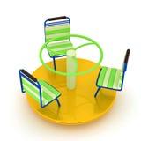 Merry-go-round amarelo Imagem de Stock