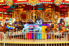 Merry-go-round. Merry go round at an amusement park Stock Photography
