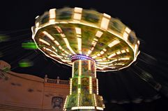 Merry go round in the amusement park Royalty Free Stock Photos