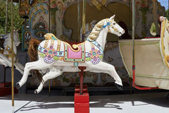 Merry-go-round on Belgian Seaside Stock Photography