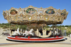 Merry-go-round on Belgian Seaside Royalty Free Stock Images