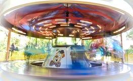 Merry go round blur. Merry go round carousel blur Royalty Free Stock Photos
