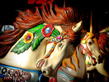 Merry Go Round Carousel Decorated Horse Head Royalty Free Stock Image