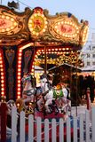 Merry-go-Round at Christmas Market royalty free stock image