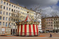 Merry-go-round in Croix-Rousse Royalty Free Stock Image