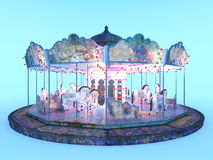 Merry-go-round. 3D CG rendering of a merry-go-round Royalty Free Stock Photos
