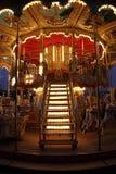 Merry-go-round de madeira clássico Imagens de Stock