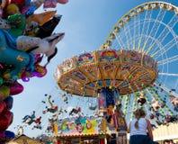Merry-go-round dell'annata Fotografia Stock