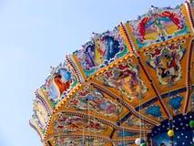 Merry-go-round dell'annata Fotografia Stock Libera da Diritti