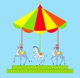 Merry-go-round desenhado mão Imagens de Stock Royalty Free